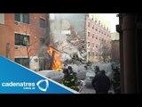 Explosión causa colapso de dos edificios en Nueva York; hay 3 muertos y varios heridos