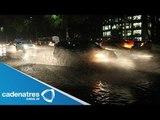 Fuerte lluvia con granizo golpea a la Ciudad de México