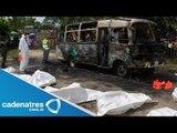 Mueren quemados 32 niños en incendio de autobús en Colombia