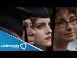 Emma Watson se gradúa de la universidad / Emma Watson graduates from college
