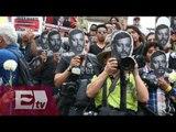 Periodistas en Veracruz guardan un minuto de silencio en memoria  de Rubén Espinosa