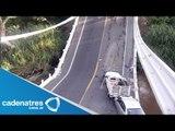 Colapsa puente en Morelos; hay tres personas heridas
