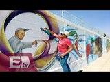 Pintan graffitis en Ecatepec para el Papa Francisco / Martín Espinoza