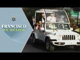Feligreses michoacanos dan cálida bienvenida al papa Francisco