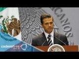 Peña Nieto pide acelerar las investigaciones del caso de normalistas en Iguala
