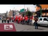 Campesinos bloquean el paso en  Bucareli / Paola Virrueta