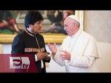 Evo Morales aconseja al papa Francisco que consuma coca/ Paola Virrueta