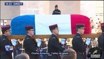 Hommage national: le cercueil de Charles Aznavour arrive aux Invalides au son d'une musique traditionnelle arménienne