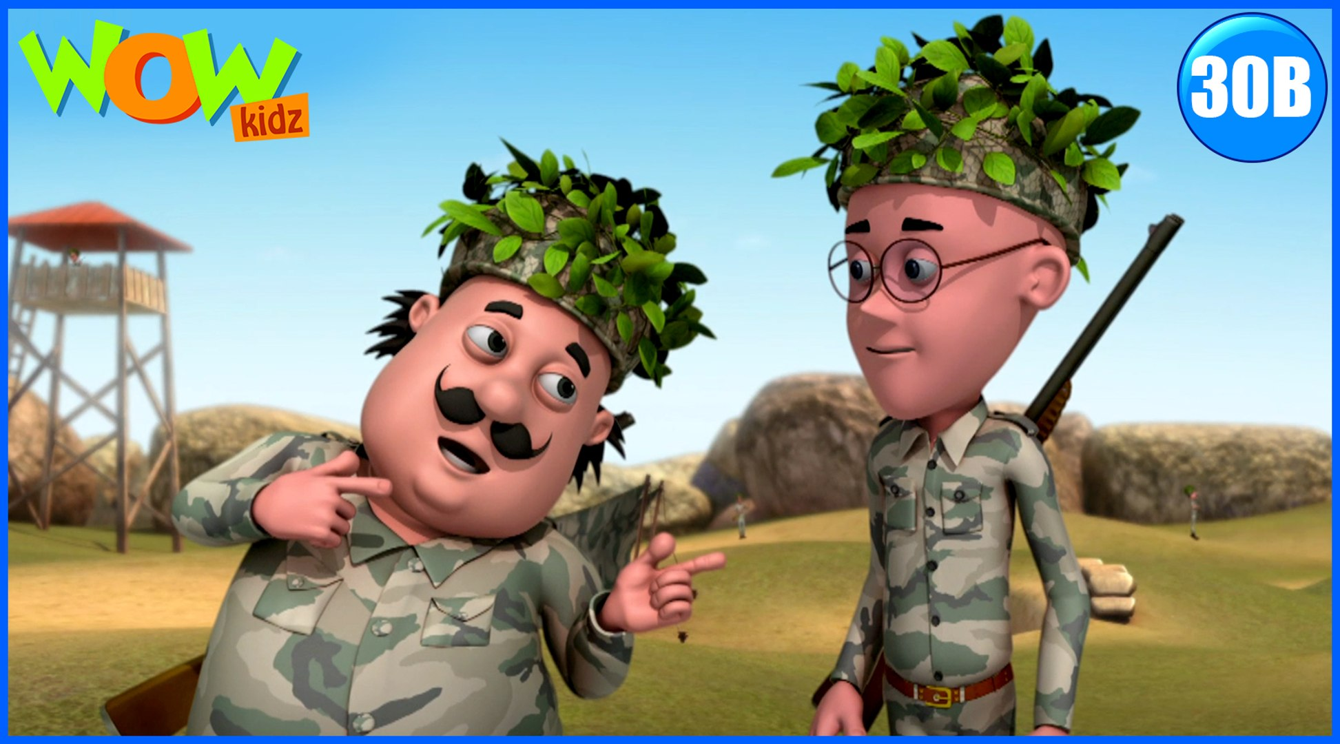 Motu Patlu in Hindi | The Army| Cartoon for Kids | Wow Kidz