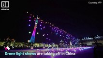 Drone light shows celebrate Chinese festivals
