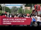 Venezolanos cruzan la frontera con Colombia para abastecerse