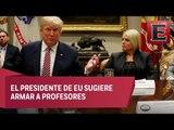 Trump culpa a videojuegos e Internet por tiroteos en EU