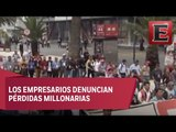 Afectaciones a empresarios por movilizaciones y bloqueos de la CNTE