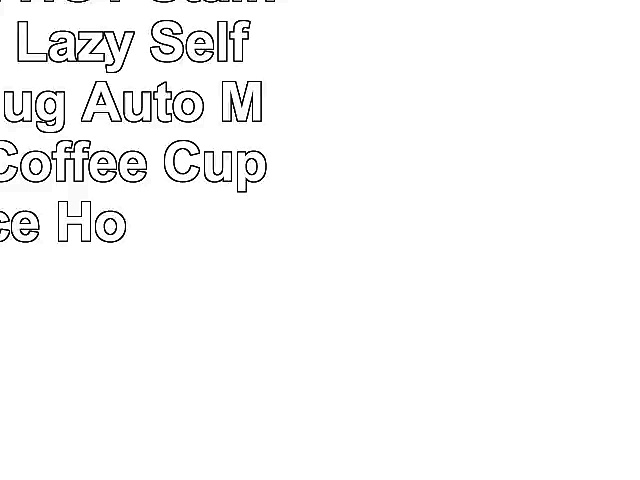 Tera 350ml HOT Stainless Plain Lazy Self Stirring Mug Auto Mixing Tea Coffee Cup Office