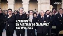 Charles Aznavour : parterre de célébrités pour l'hommage aux Invalides