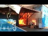 Comerciantes de la Central de Abastos afectados en incendio serán reubicados