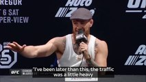 """""""He is petrified""""Conor McGregor has continued his war of words with Khabib Nurmagomedov and branded the Russian """"petrified"""" ahead of Saturday's clash.More:"""