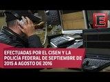 Realizan en México 819 intervenciones telefónicas por seguridad nacional