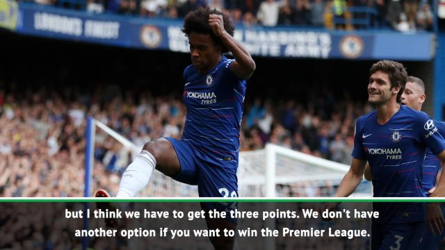 Chelsea must win at Southampton to keep title hopes alive - Willian