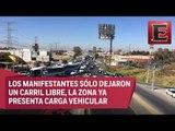 Bloquean 3 carriles de la México - Toluca por gasolinazo