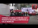 Campesinos bloquean calles del Centro Histórico por gasolinazo