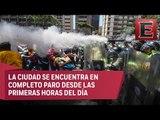 Caos por marchas en la capital de Venezuela