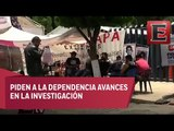 Familiares de normalistas desaparecidos mantienen plantón en la PGR