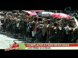 La sobremesa Justin Bieber complació a fans mexicanas en el Zócalo