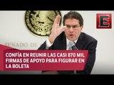Ríos Piter se registra, ante el INE, como candidato independiente a la Presidencia