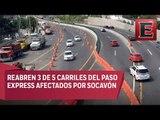 Reabren circulación en tres carriles del Paso Express Cuernavaca
