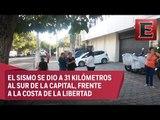 Se registra sismo de magnitud 5.8 grados en El Salvador