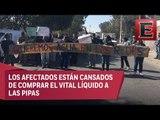 Vecinos de Ecatepec toman pozos de agua por falta de suministro