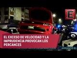 Reporte nocturno: Cinco accidentes viales en la CDMX sin víctimas mortales