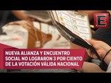INE define a interventores para partidos que perderán su registro