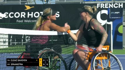 Day 1: Women's Singles: Cleaz Savoyen (FRA) vs Spaanstra (NED)