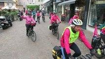 """Chambéry : départ du tour à vélo en rose contre le cancer du sein """"5 jours, cinq lacs en Savoie Mont-Blanc"""""""