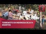 Se registra sismo 6.4 grados en Indonesia