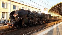 La 241P17, plus puissante locomotive à vapeur d'Europe, à Avignon