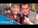 Eugenio Derbez trabaja con Charlie Sheen / Eugenio Derbez work with Charlie Sheen