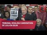 Tribunal Electoral rechaza candidatura de Lula Da Silva
