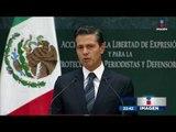 Esto propone EPN para acabar con asesinatos de periodistas | Noticias con Ciro Gómez Leyva
