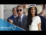 George Clooney y Amal Alamuddin se casan / George Clooney y alamuddin wedding