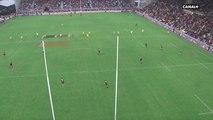 Damian Penaud inscrit un essai contre La Rochelle sur le coup de pied d'engagement