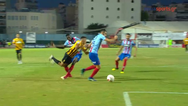 Garcia requests a penalty (47') - Panionios vs Aris - 06.10.2018 [HD]