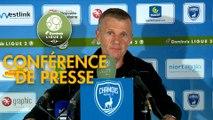 Conférence de presse Chamois Niortais - Paris FC (1-0) : Patrice LAIR (CNFC) - Mecha BAZDAREVIC (PFC) - 2018/2019
