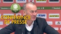 Conférence de presse Valenciennes FC - Stade Brestois 29 (1-3) : Réginald RAY (VAFC) - Jean-Marc FURLAN (BREST) - 2018/2019