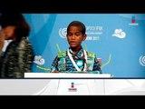 Niño da emotivo mensaje en Cumbre sobre Cambio Climático | Noticias con Francisco Zea