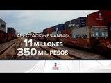 Trenes detenidos causan pérdidas millonarias | Noticias con Ciro Gómez Leyva
