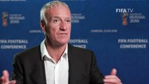 #WorldCup-winning coach Didier Deschamps discusses sharing ideas at the FIFA Football Conference Le sélectionneur de la Équipe de France de Football Didie
