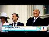 Macron y Trump exhiben su amistad en Washington | Noticias con Francisco Zea